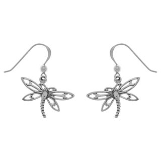 CGC Sterling Silver Dragonfly Dangle Earrings