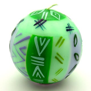Hand-Painted Ball Candle - Farih Design - Nobunto Candles (South Africa)