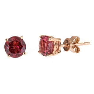 Anika and August 14k Rose Gold Round-cut Rodholite Earrings