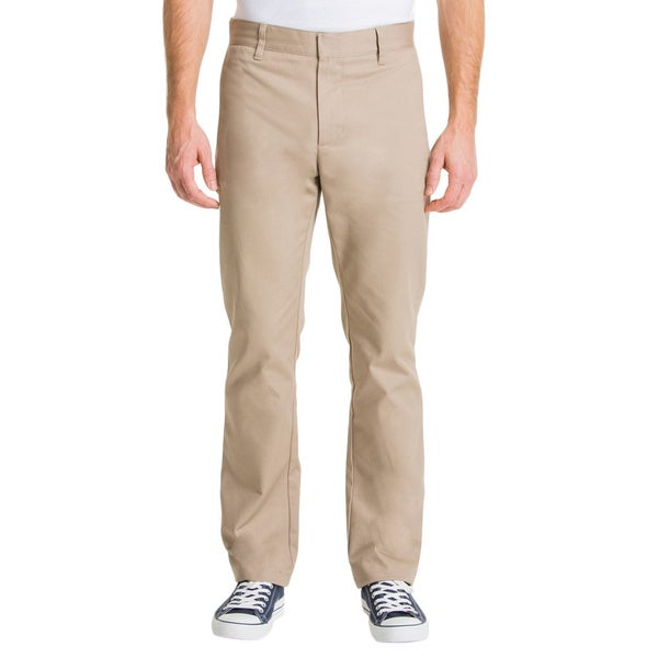 Lee Young Men's Khaki Slim Straight Leg Pant