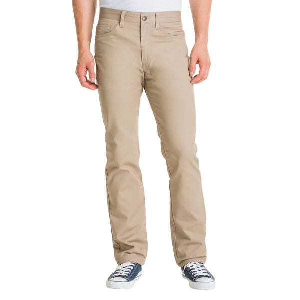 Lee Young Men's Khaki 5-Pocket Straight Leg Pant