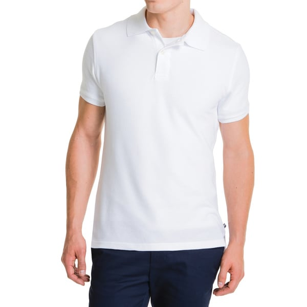 Lee Young Men's White Short Sleeve Pique Polo
