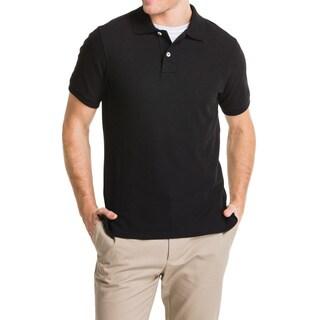 Lee Young Men's Black Short Sleeve Pique Polo