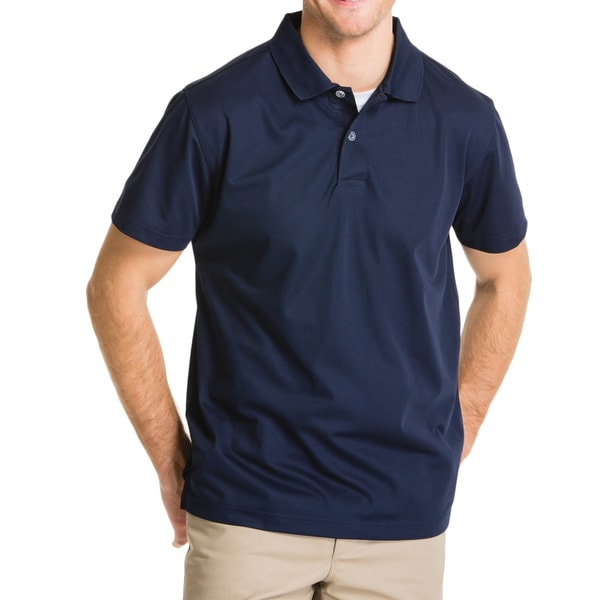 Lee Young Men's Navy Short Sleeve Sport Polo