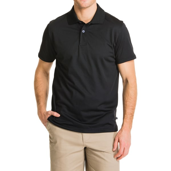 Lee Young Men's Black Short Sleeve Sport Polo