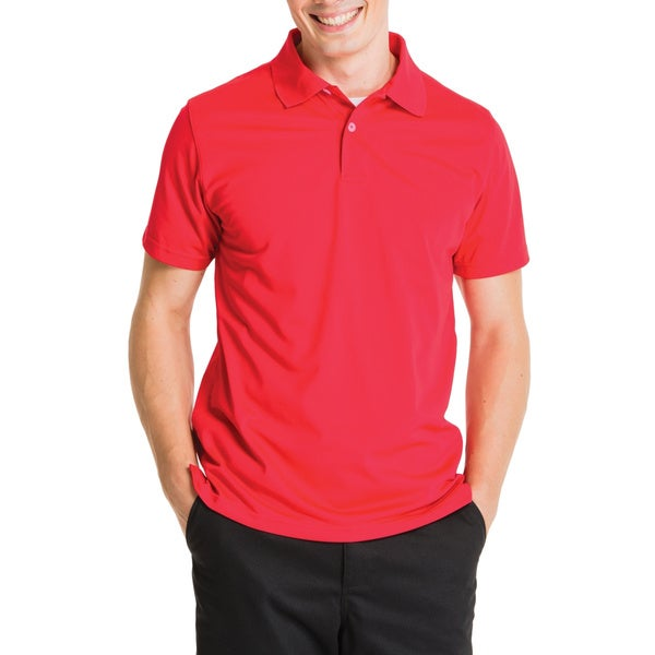 Lee Young Men's Red Short Sleeve Sport Polo