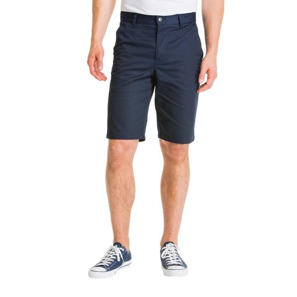 Lee Young Men's Navy Classic Flat Front Short