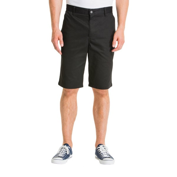 Lee Young Men's Black Classic Flat Front Short