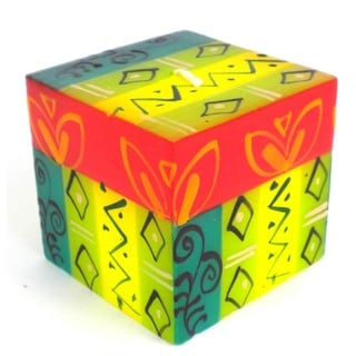 Hand-Painted Cube Candle - Matuko Design - Nobunto Candles (South Africa)