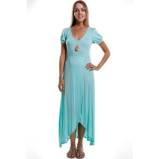 Hadari Women's Contemporary Front Slit Dress