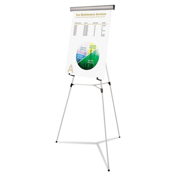 MasterVision Silver Telescoping Tripod Display Easel