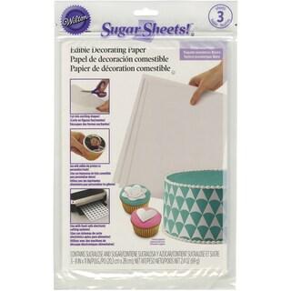 Sugar Sheets 3/Pkg White