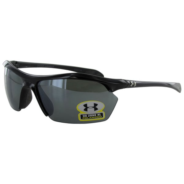 Under Armour Mens Zone XL Polarized Sport Wrap Sunglasses
