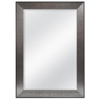 Pewter Finished 31 inches x 41 inches Beveled Mirror Frame