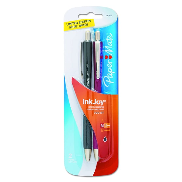 Paper Mate InkJoy 700RT Limited Edition Black Ballpoint Pen (2 Packs of 2)