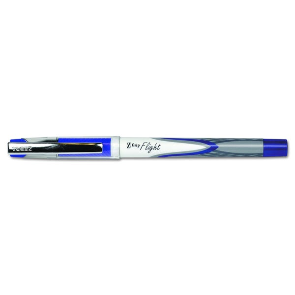 Zebra Z-Grip Flight Stick Blue Ballpoint Pen (2 Packs of 12)