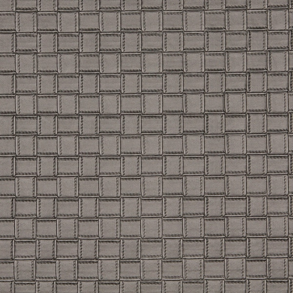 G660 Silver Metallic Basket Woven Look Upholstery Faux Leather by the Yard