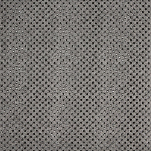 G665 Silver Metallic Tufted Look Upholstery Faux Leather by the Yard