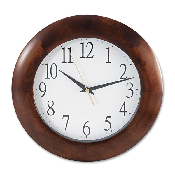 Universal One Cherry Round Wood Clock