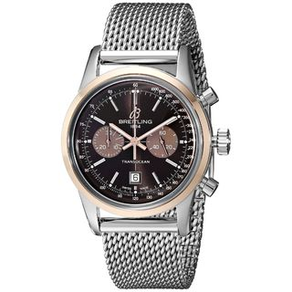 Breitling Men's U4131012-Q600 'Transocean' Automatic Chronograph Silver Stainless steel Watch