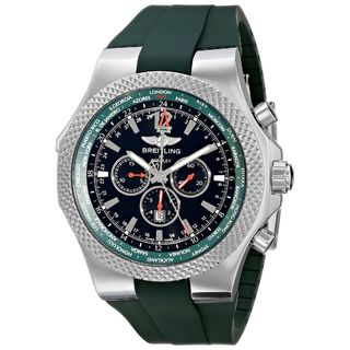 Breitling Men's A47362S4-B919 'Bentley GMT' Automatic Chronograph Green Rubber Watch