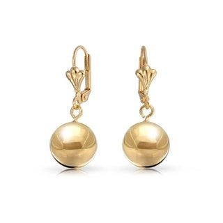 Peermont Jewelry 18k Goldplated Gold 12mm Ball Drop Earrings