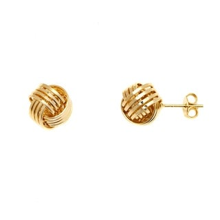 18k Goldplated Gold 4-row Love Knot Stud Earrings