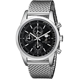 Breitling Men's A1931012-BB68 'Transocean 1461' Automatic Chronograph Silver Stainless steel Watch