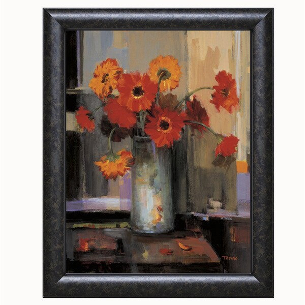 Jennie Tomao-Floral Sunset 22 x 28 Framed Art Print