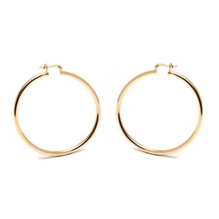 Peermont Jewelry 18k Goldplated 50mm Plain Hoop Earrings
