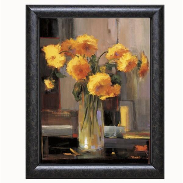 Jennie Tomao-Floral Sunrise 22 x 28 Framed Art Print
