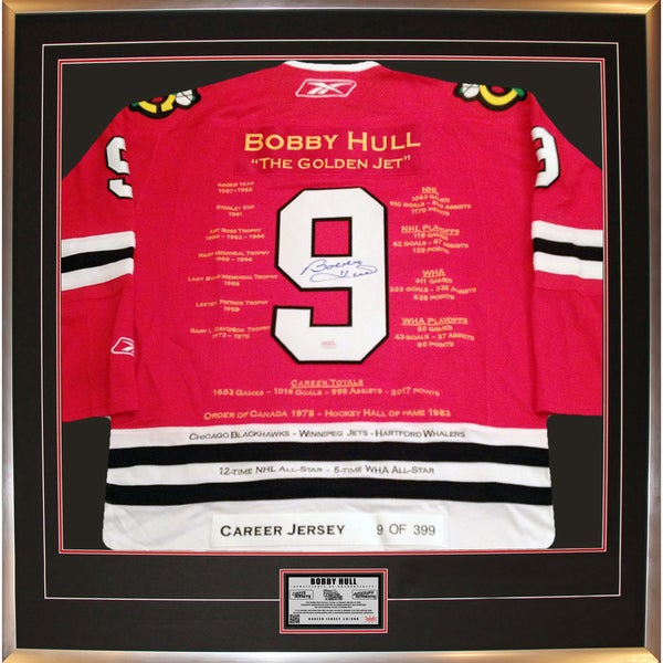 Bobby Hull Red Career Jersey no. 9 of 399