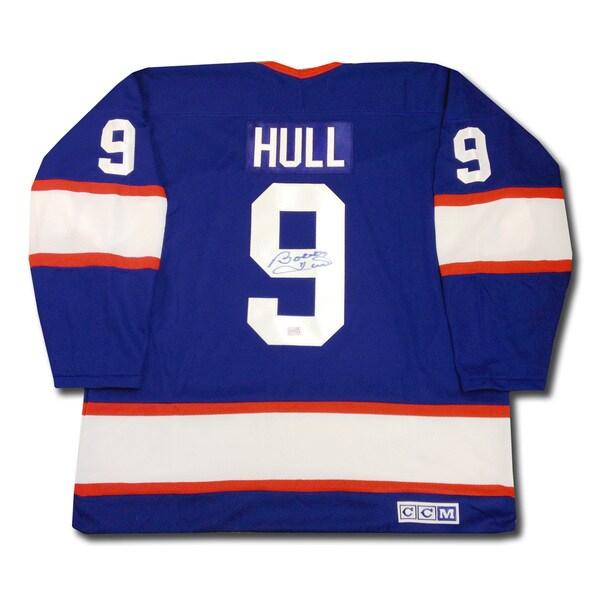 Bobby Hull Autographed Blue Winnipeg Jets Jersey