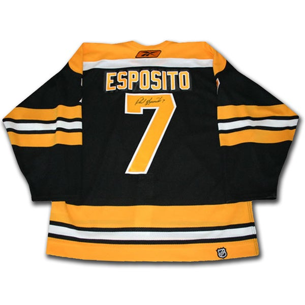 Phil Esposito Autographed Black Boston Bruins Jersey