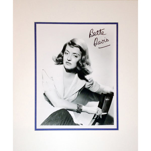 Framed 8x10 Photograph Autographed by Bette Davis