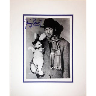 Framed 8x10 Photograph Autographed by Jimmy Stewart
