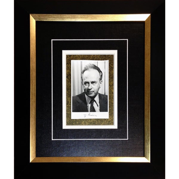 Yitzhak Rabin Israeli Prime Minister Autographed Photograph