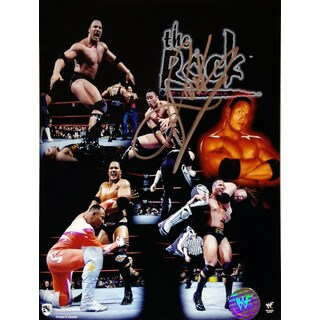 Autographed Wrestling Champion The Rock Photograph