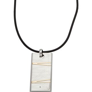 Bliss by Damiani Flash Stainless Steel and 18k Yellow Gold Diamond Necklace