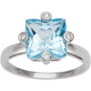 Bliss by Damiani Square 2.11 18k White Gold Ring