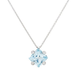 Bliss by Damiani Square 2.11 18k White Gold Necklace