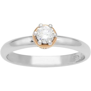 Damiani Domina 18k Gold and Platinum Diamond Ring