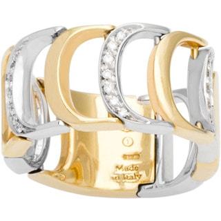 Damiani Damianissima 18k Yellow and White Gold Diamond Ring