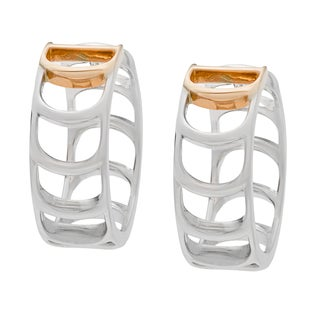 Damiani Damianissima 18k White and Rose Gold Earrings