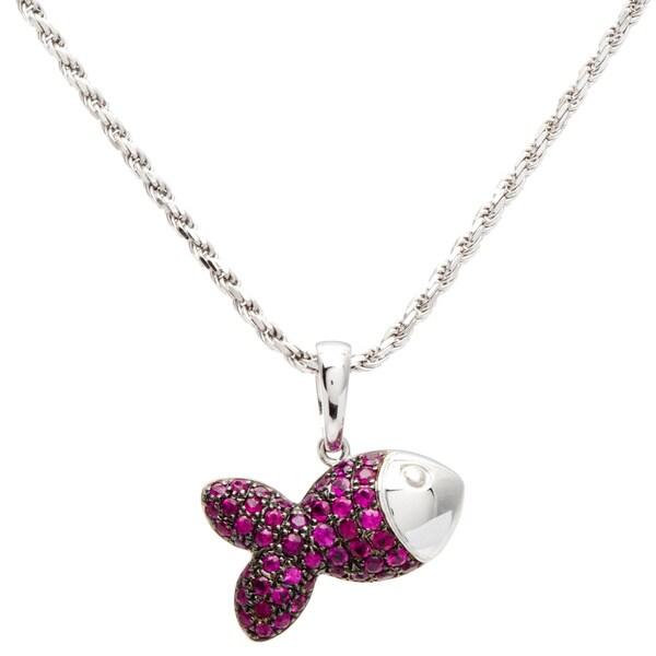 Chopard 18k White Gold Pendant Necklace