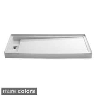 Kohler Groove 60 inches x 32 inches Acrylic Receptor with Left-hand Drain