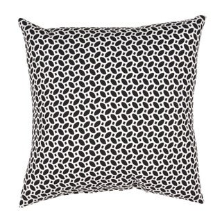 Geometric Pattern Black/Ivory Polyester Polly Fill 18-inch Throw Pillow