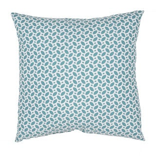 Geometric Pattern Blue/Ivory Polyester Polly Fill 18-inch Throw Pillow