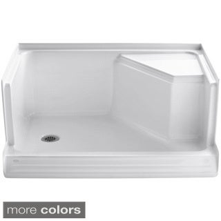 Kohler Memoirs 48 inches Shower Receptor with Integral Seat At Right and Left-hand Drain
