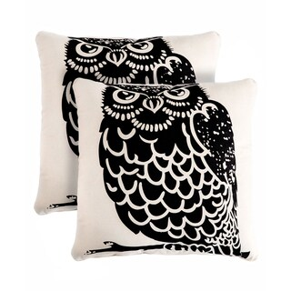 Slumber Shop Owl Decorative 18-inch Throw Pillow (Set of 2)